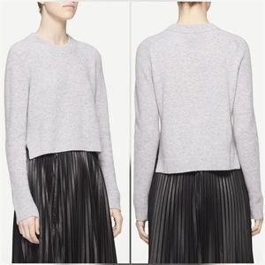 Rag & Bone Valentina Cashmere Crop Sweater Gray